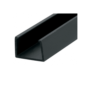 "CRL EX6545 Black 1/2"" Plastic U-Channel - 12' Long"