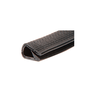 Black Basketweave100' QuickEdge Pinch Top Single Lip Trim