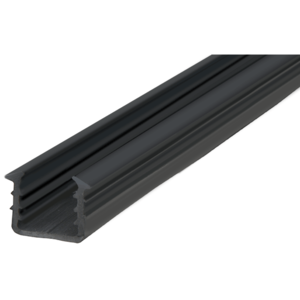"CRL GRRF1519PV Roll Form Cap Rail Black Rubber Insert for 3/4"" Monolithic Glass and 11/16"" Laminated Glass"