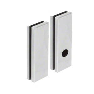 CRL 1900SPBS Brushed Stainless Lever Trim Glass Mounting Pad for 1900 Series Rim Panic