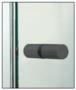 CRL SDK112MBL Matte Black Cylinder Style Back-to-Back Shower Door Knobs