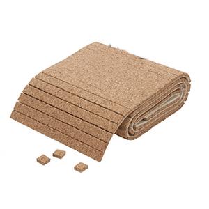 "CRL CNA12 1/2"" x 1/2"" x 1/4"" Cork Non-Adhesive Shipping Pads - Roll"