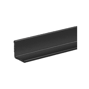 "CRL D1627BL Black Electro-Static Paint 1/2"" Aluminum Angle Extrusion"