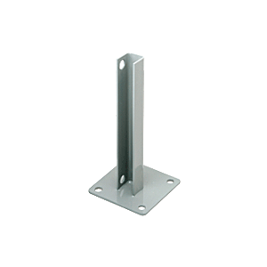 CRL PSB2AAGY Agate Gray AWS Steel Stanchion for 90 Degree Round Corner Posts
