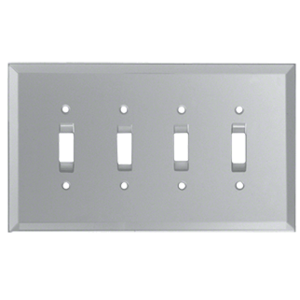 Clear Quad Toggle Glass Mirror Plate