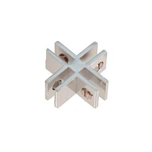 CRL E414A Chrome Anodized Aluminum 4-Way 90 Degree Glass Connector