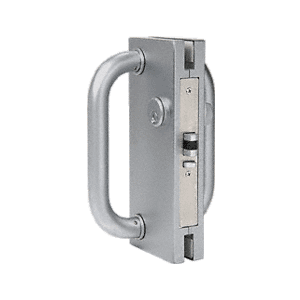 """CRL DL410LBS Brushed Stainless 4"""" x 10"""" LH/RHR Center Lock with Deadlatch"""