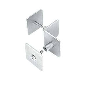 CRL PB004PS Polished Stainless Bullet Resistant Protective Barrier System 90 Degree Top or Mid-Mount Inside Clamp