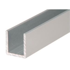 """CRL SDCD1212BN Brushed Nickel 1/2"""" Fixed Panel Shower Door Deep U-Channel - 144"""""""