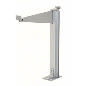 "CRL D995ARHCE Satin Anodized 18"" High Right Hand Closed End Design Series Partition Post with 12"" Deep Top Shelf"