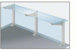 """CRL D995ARHCE Satin Anodized 18"""" High Right Hand Closed End Design Series Partition Post with 12"""" Deep Top Shelf"""