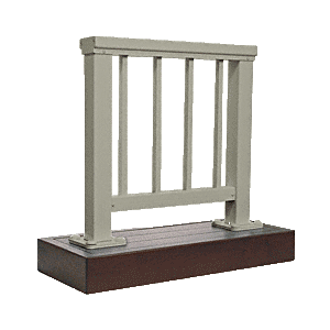 CRL ARS2PLBGY Beige Gray 200 Series Aluminum Picket Railing System Large Showroom Display