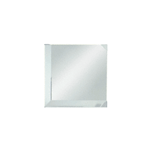"""CRL BM2C2 Clear Mirror Glass 2"""" Square Beveled on 2 Sides"""