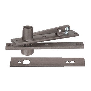 Rixson H340DU Heavy-Duty Center-Hung Top Pivot with Dark Bronze Cover Plate