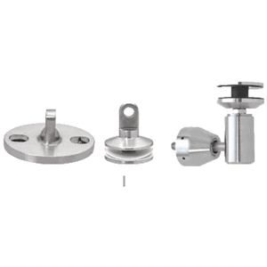 Brushed Stainless Glass Awning Support System Mounting Kit