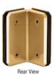 CRL M0090BR Brass Monaco Series Glass-to-Glass Bracket