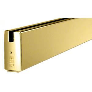 "Polished Brass 4"" x 120"" Length Square Sidelite Rail"