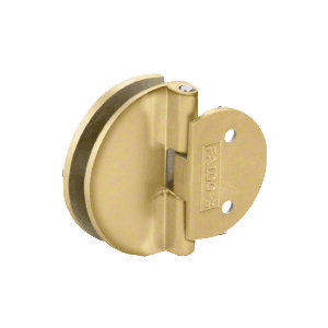 Polished Brass Half Round Light Duty Frameless Shower Door Hinge