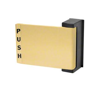 Brass Universal Push-Pull Paddle Handle - Push to Left