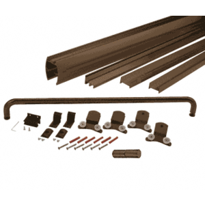 "CRL DK3860800RB Oil Rubbed Bronze 60"" x 80"" Cottage DK Series Sliding Shower Door Kit with Metal Jambs for 3/8"" Glass"
