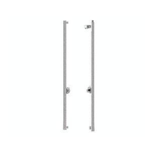 Brushed Stainless Right Hand Swing Rail Mount Cylinder/Thumbturn 'F' Top Secured Deadbolt Exterior Handle