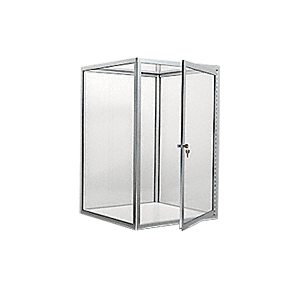 CRL D4042BA Brite Anodized Custom Size Avalon Showcase with Hinged Door on Two Ends