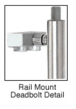 CRL Blumcraft DB130F5R1BS Brushed Stainless Right Hand Swing Rail Mount Cylinder/Thumbturn 'F' Top Secured Deadbolt Exterior Handle