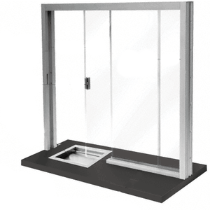 CRL SBRWA1 Satin Anodized Bullet Resistant Level 1 Manual Sliding Service Window
