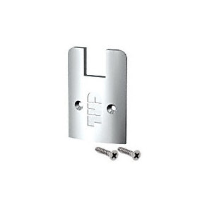 CRL SREC2SPS Polished Stainless Low Profile Sidelite Rail Cap with Screws