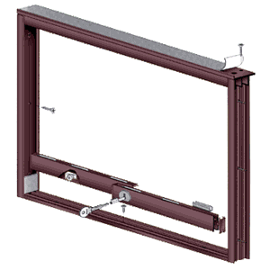 CRL D3276DU Dark Bronze Wood End Showcase Track Assembly With Flat Rear Track