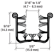 """CRL Y52872 Y528 Flexible Universal Channel for 1948-1967 Vehicles - 72"""" Length"""
