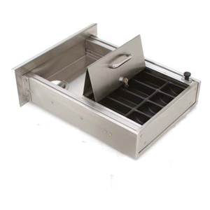 CRL FL4463 Brushed Stainless Steel Transaction and Cash Box Drawer