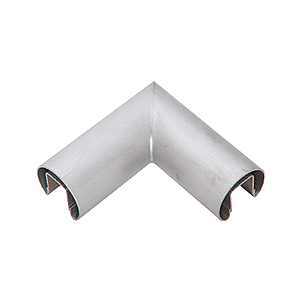 "CRL GR20HBS Brushed Stainless 2"" Diameter 90 Degree Horizontal Corner for 1/2"" or 5/8"" Glass Cap Railing"