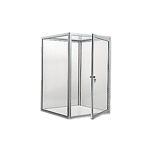 CRL D4041BA Brite Anodized Custom Size Avalon Showcase with Hinged Door on One End