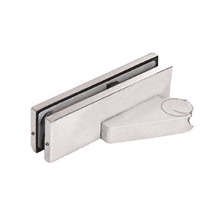 CRL 0PF10LBS Brushed Stainless Left Offset Bottom Door Patch Fitting