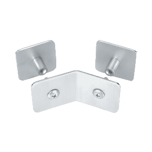 CRL PB006SC Satin Chrome Bullet Resistant Protective Barrier System 135 Degree Top or Mid-Mount Outside Clamp