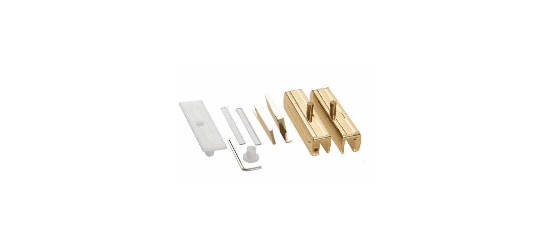 CRL Antique Brass Madrid Series Hinge Kit for 3//8 Glass