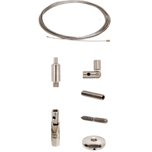 CRL Y0002CR Wall Mounted Vertical Cable System Kit