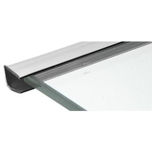 "Chrome 1/4"" Plastic Reflective Edge Molding - 96"" Stock Length"