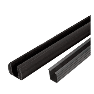 "CRL BR48KBL Black AWS 48"" Bottom Rail Kit with Rigid Glazing Vinyl"