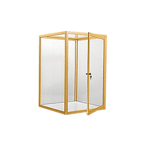 CRL D4043GA Gold Anodized Custom Size Avalon Showcase with Double Hinged Front Doors