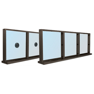 CRL N1SWDU Dark Bronze Aluminum Narrow Inset Frame Multi-Lite Special Window