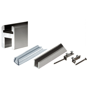 CRL SQH980BN Brushed Nickel Flat/Flat Profile Deluxe Shower Door Header Kit - 95""