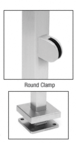"""CRL SPR36CPS Polished Stainless 36"""" Steel Square Glass Clamp 180 Degree Center Square Post Railing Kit"""