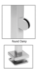 """CRL SPR36EPS Polished Stainless 36"""" Steel Square Glass Clamp End Square Post Railing Kit"""