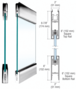 """SPS S712S1PS Polished Stainless Type 1 Standard with 6"""" Square Rails Top and Bottom"""