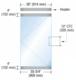 "CRL P4SA12SE Dry Glazed Frameless Glass 3'-0"" P-Style Satin Anodized Single Door Complete Entrance Kit - without Lock"