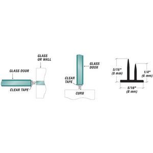 U.S. Horizon Mfg., Inc. DFS Clear Dual Durometer Shower Door Seal Double Fin