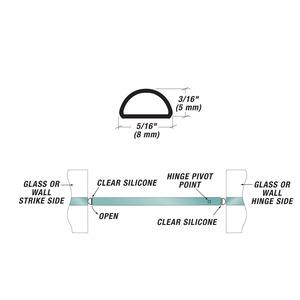 U.S. Horizon Mfg., Inc. SBS Translucent Silicone Bulb Seal
