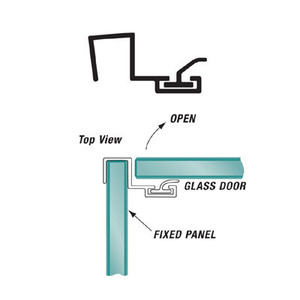 U.S. Horizon Mfg., Inc. P90SJ-38 95 Inches Stock Length Shower Door Strike Jamb 90 Degree & Fits 3/8 Inch Glass